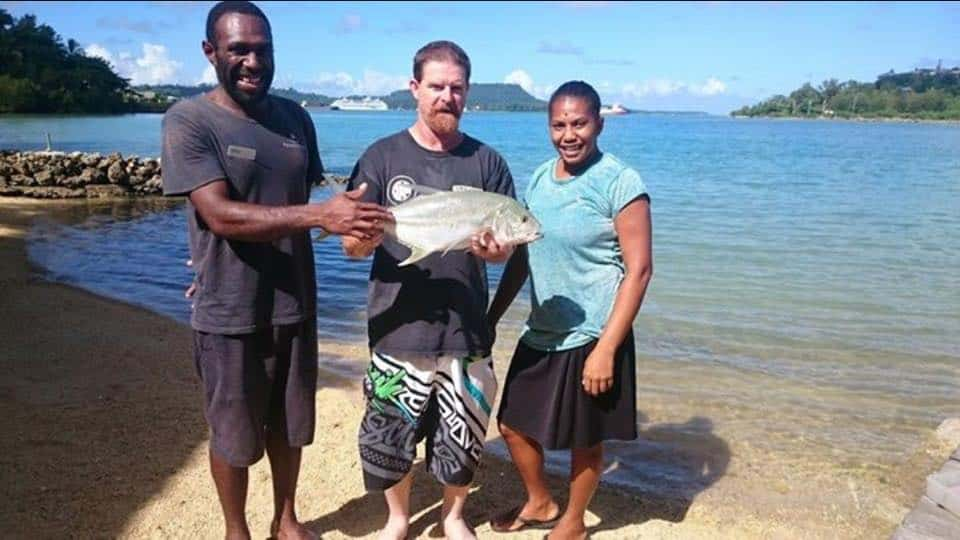 Impressive catch from Fatumaru Lodge jetty by Kevin